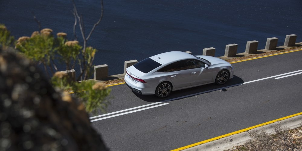 The new Audi A7 Sportback from above