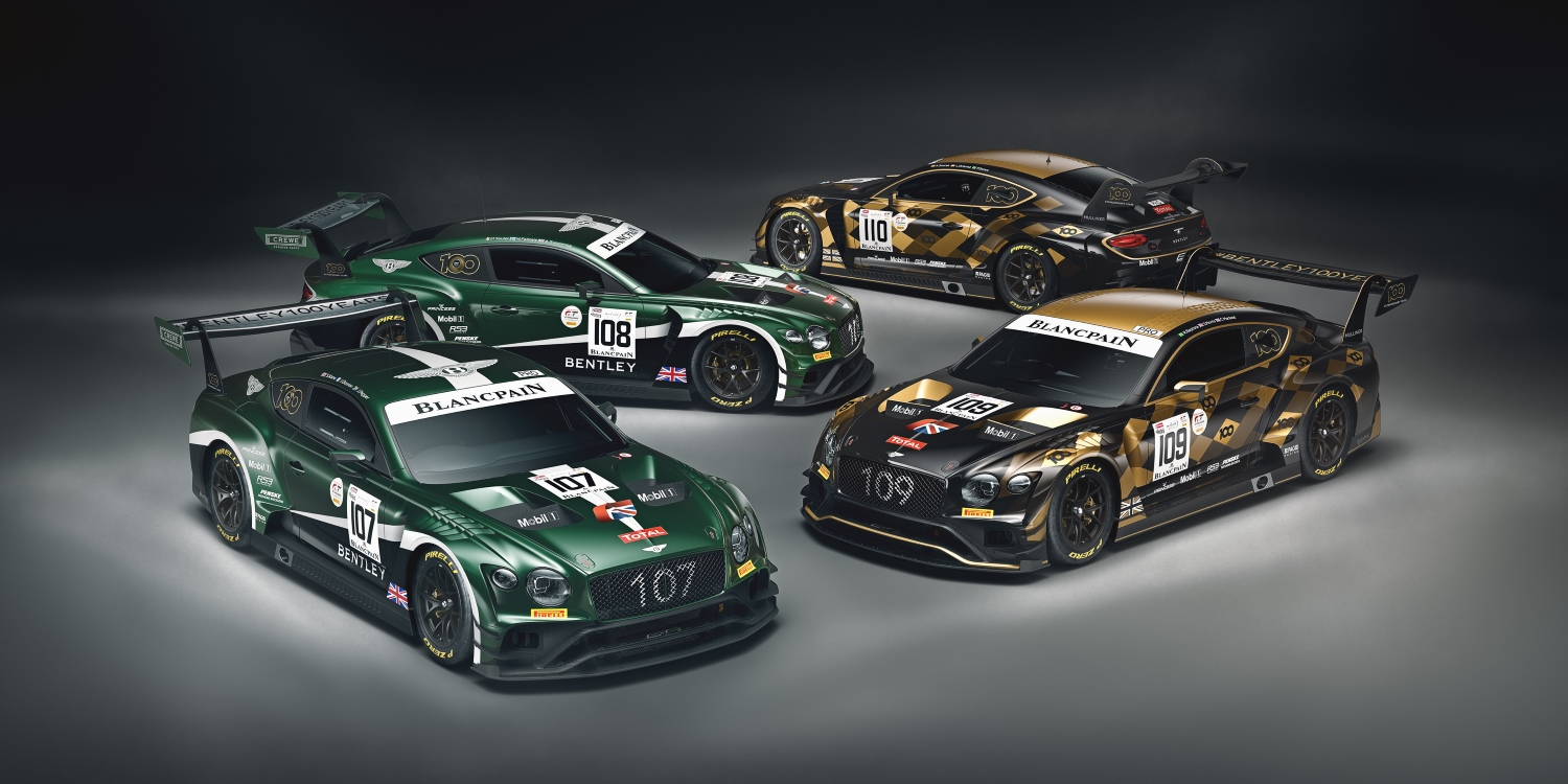 Bentley reveals centenary liveries for Spa. Photo by: Bentley Motors