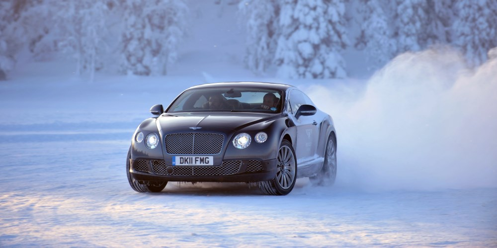Bentley Power on Ice. Photo by: Bentley Motors
