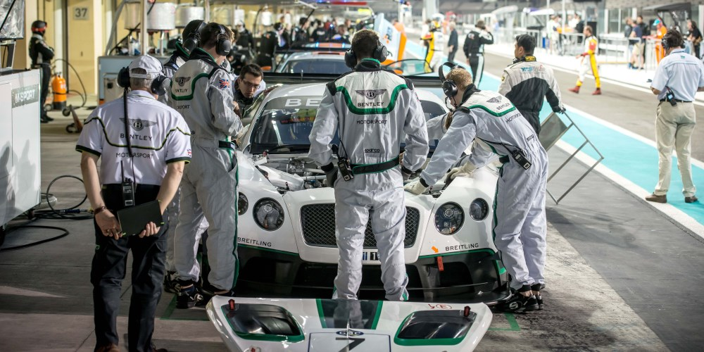 Steven Kane, Guy Smith and Andy Meyrick . Photo by: Bentley Motors
