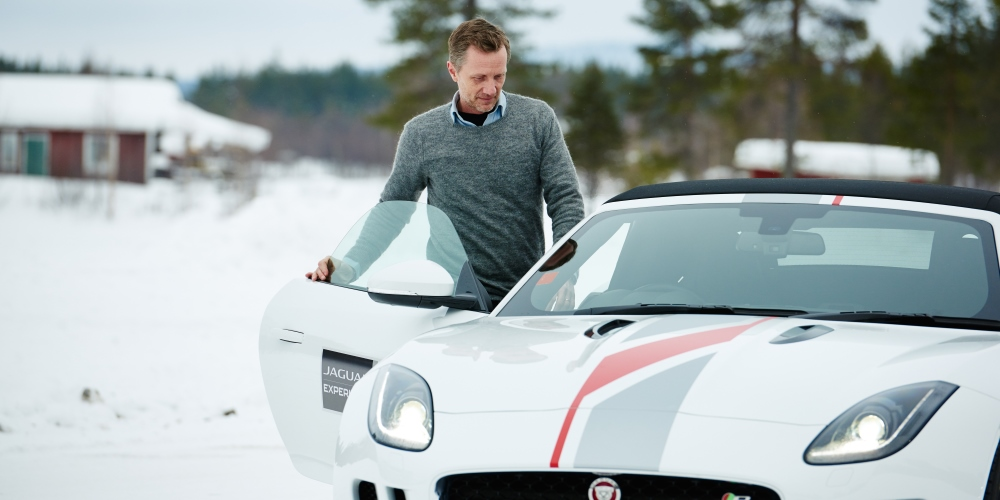 Jaguar Land Rover opens ice driving academy. Photo by: Jaguar Land Rover