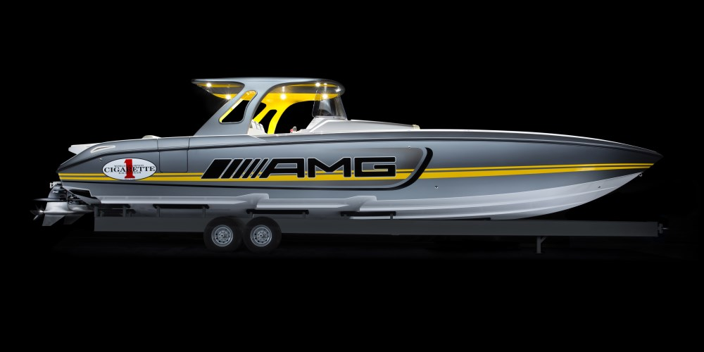 Two Powerhouses Roared into the Miami International Boat Show. Photo by: Mercedes-AMG
