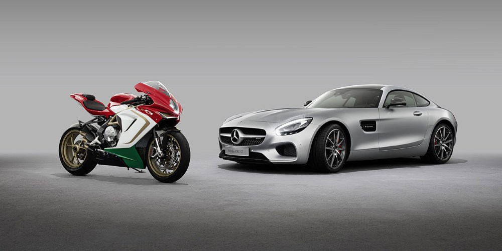 MV Agusta & Mercedes-AMG GT. Photo by: Mercedes-AMG