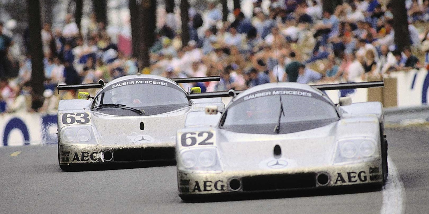25 years ago: double victory for Mercedes-Benz in the 24 Hours of Le Mans. Photo by: Daimler AG