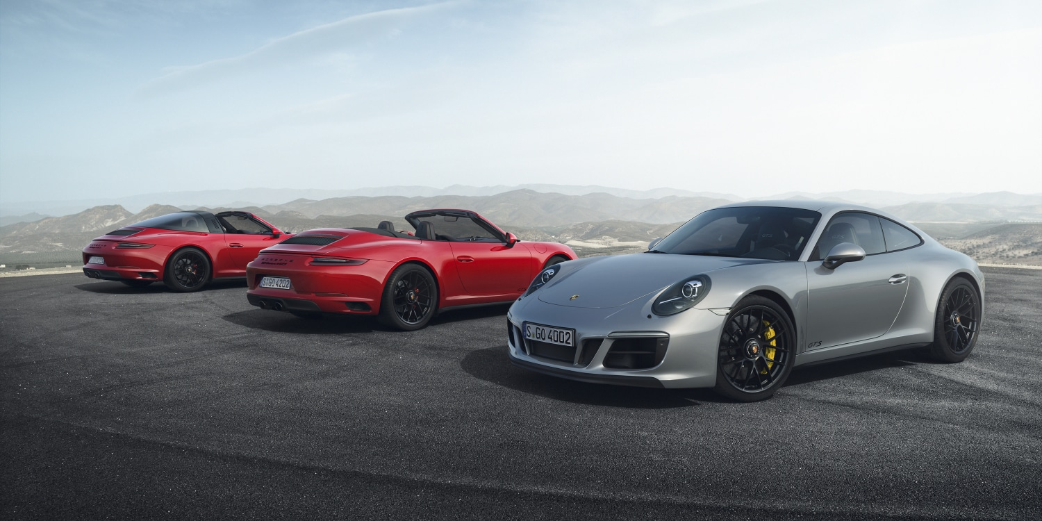 The new 911 GTS models. Photo by: Porsche AG