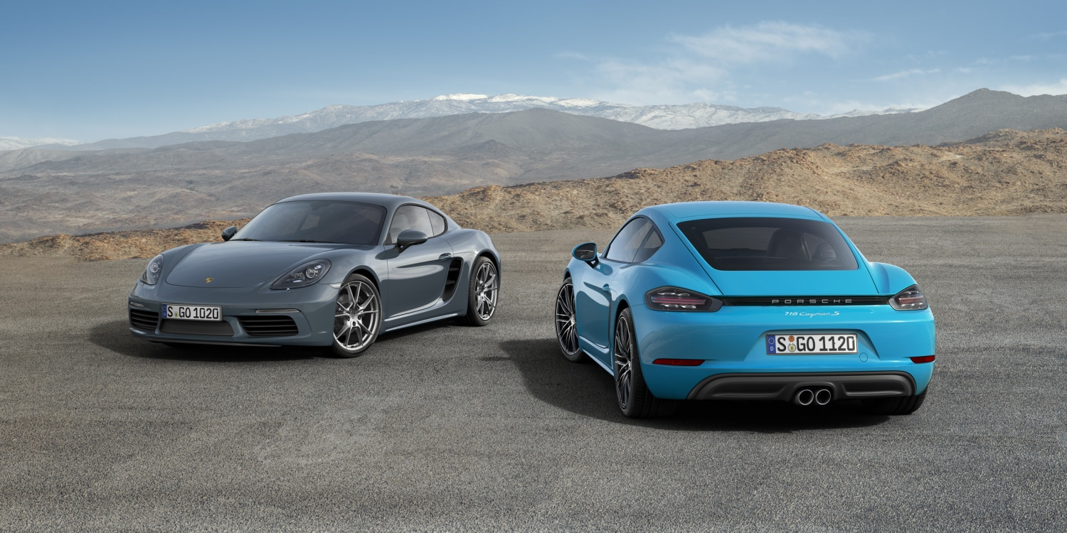 Porsche 718 Cayman and Porsche 718 Cayman S. Photo by: Porsche AG