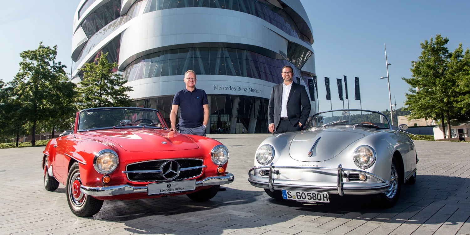 Porsche and Mercedes-Benz in unique partnership. Photo by: Porsche AG