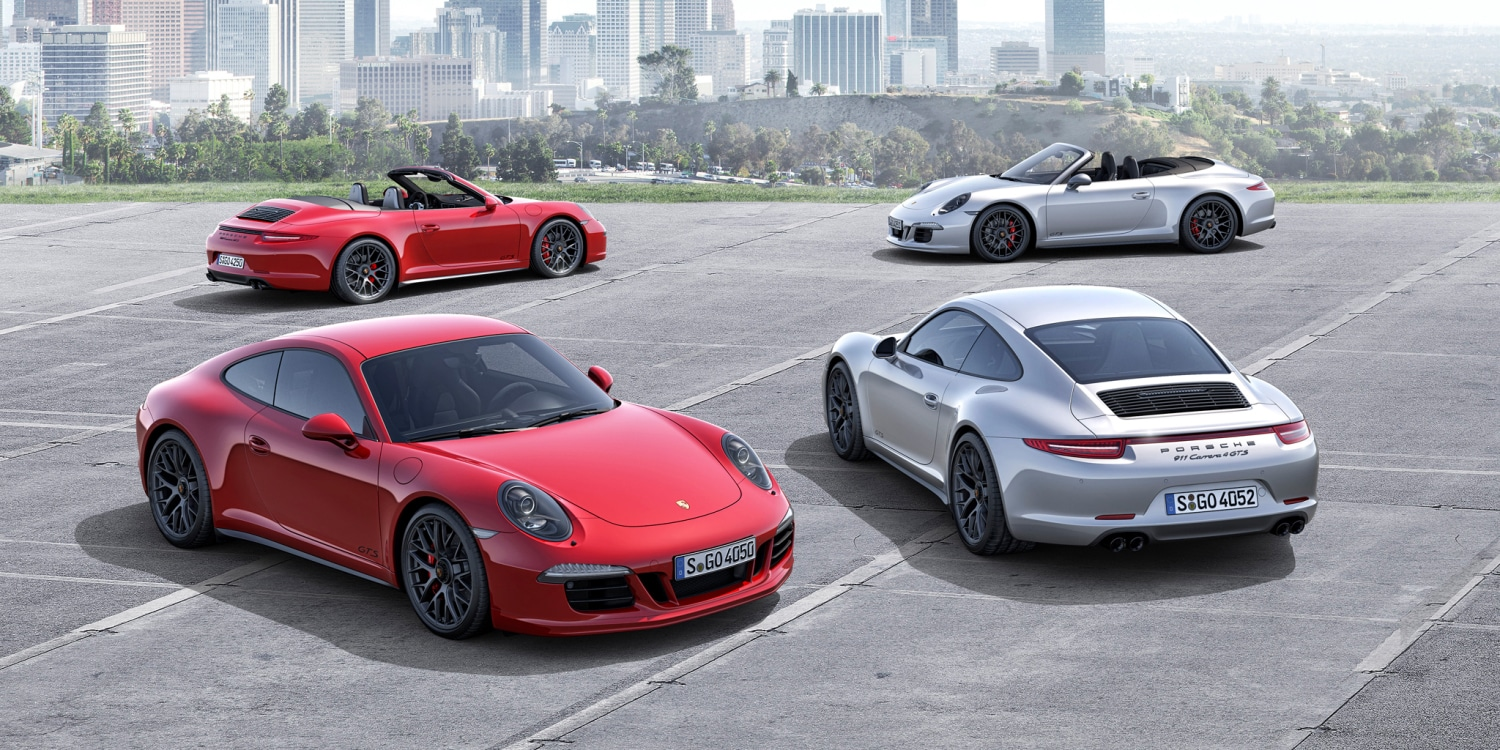 The new Porsche 911 Carrera GTS models. Photo by: Porsche AG