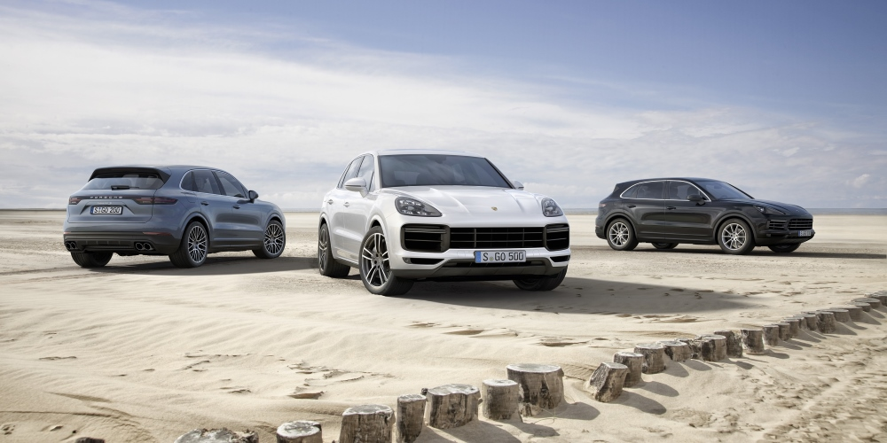 The new Porsche Cayenne. Photo by: Porsche AG