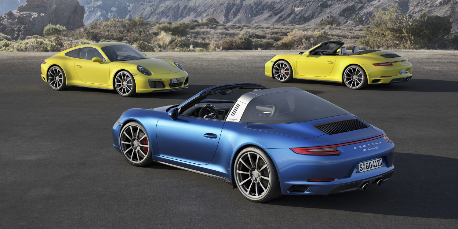 New all-wheel drive Carrera 4 and Targa 4. Photo by: Porsche AG