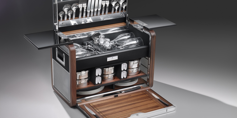 The Phantom Zenith Collection Picnic Hamper. Photo by: Rolls-Royce Motor Cars