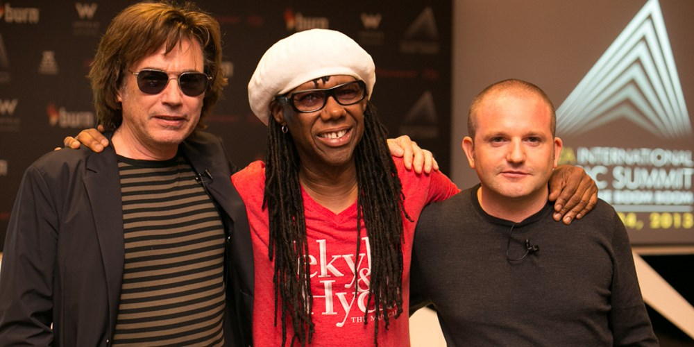 Jean Michel Jarre, Nile Rodgers and Ben Turner. Photo by: International Music Summit