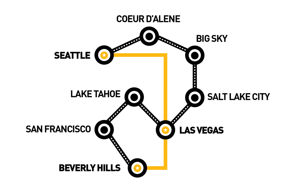 goldRush 2019 Route